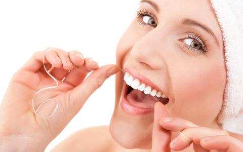 Stosowanie nici dentystycznych